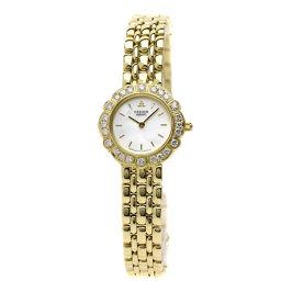 セイコー 4N70-019B クレドール ベゼル ダイヤモンド 腕時計レディース