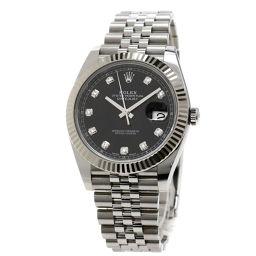 ロレックス 126334G デイトジャスト41 12Pダイヤモンド 腕時計メンズ