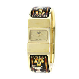 エルメス LO1.201 ロケ バングル 七宝焼き 腕時計レディース