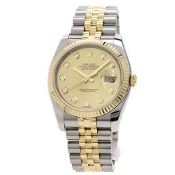 ロレックス 116233G デイトジャスト 10Pダイヤモンド コンビ 腕時計メンズ