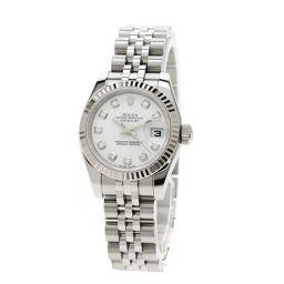 ロレックス 179174G デイトジャスト/10Pダイヤモンド 腕時計レディース