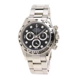 ロレックス 116509G コスモグラフ デイトナ 8Pダイヤモンド 腕時計メンズ