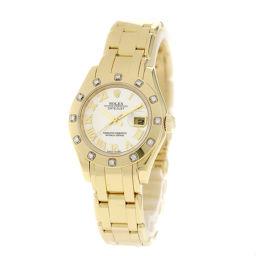ロレックス 80318NR デイトジャスト パールマスター ベゼル12Pダイヤモンド 腕時計レディース