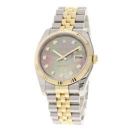 ロレックス 116233NG デイトジャスト 10Pダイヤモンド 腕時計メンズ