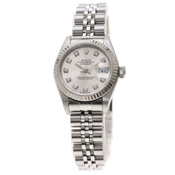 ロレックス 79174G デイトジャスト/10Pダイヤモンド 腕時計 OH済レディース