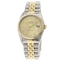 ロレックス 16233G デイトジャスト/10Pダイヤモンド 腕時計メンズ