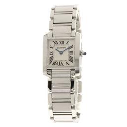 カルティエ W51008Q3 タンクフランセーズ SM 腕時計 OH済レディース