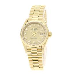 ロレックス 69178G デイトジャスト 10Pダイヤモンド 腕時計レディース