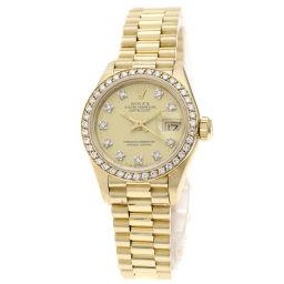 ロレックス 69138G デイトジャスト/10Pダイヤモンド 腕時計 OH済レディース