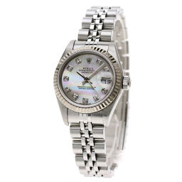 ロレックス 79174NG デイトジャスト 10Pダイヤモンド 腕時計レディース