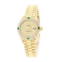 ロレックス 69078G デイトジャスト ダイヤモンド・エメラルドベゼル 腕時計レディース