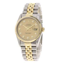 ロレックス 16233G デイトジャスト 10Pダイヤモンド 腕時計メンズ