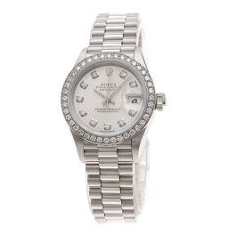 ロレックス 79136G デイトジャスト 10Pダイヤモンド 腕時計レディース
