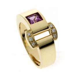 ピアジェ ミスプロトコール ピンクトルマリン ダイヤモンド #53 リング・指輪レディース