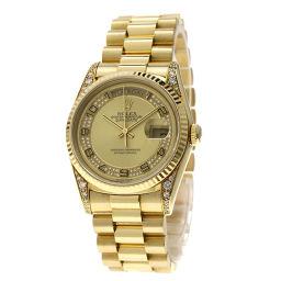 ロレックス 18338MA デイデイト ミリヤードダイヤモンド 腕時計メンズ