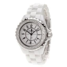 シャネル H0967 J12 ベゼルダイヤモンド 腕時計レディース