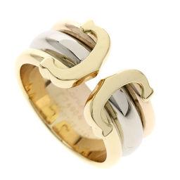 カルティエ 2Cリング ダイヤモンド 3カラーゴールド #50 リング・指輪レディース