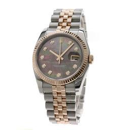 ロレックス 116231NG デイトジャスト 10Pダイヤモンド 腕時計メンズ