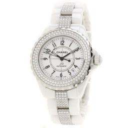 シャネル H1422 J12 38 ダイヤモンドベゼル 腕時計 OH済メンズ