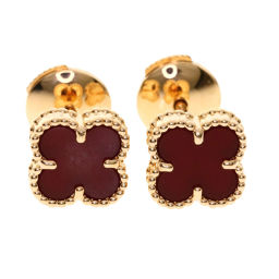 Van Cleef & Arpels Sweet Alhambra Carnelian Earrings Women