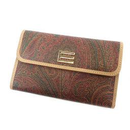 エトロ ペイズリー 二つ折り財布(小銭入れあり)レディース