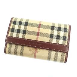 バーバリー チェック柄 二つ折り財布(小銭入れあり)レディース