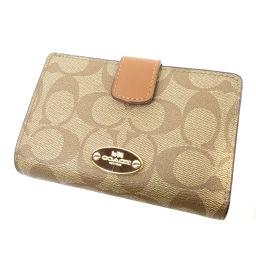 コーチ F53562 シグネチャー 二つ折り財布(小銭入れあり)レディース