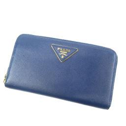 プラダ ロゴプレート 長財布(小銭入れあり)レディース