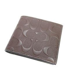 コーチ シグネチャーF75363 二つ折り財布(小銭入れあり)レディース