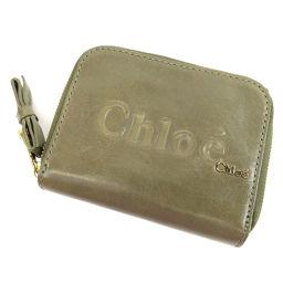 クロエ ロゴマーク 二つ折り財布(小銭入れあり)レディース