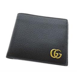 グッチ 428726 GGマーク 二つ折り財布(小銭入れなし)ユニセックス