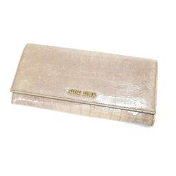 ミュウミュウ ロゴマーク 長財布(小銭入れあり)レディース