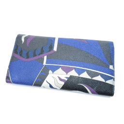 Emilio Pucci Petit Pattern Long Purse (with coin purse) Ladies