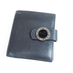 ブルガリ ロゴ金具 二つ折り財布(小銭入れあり)レディース