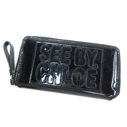 シーバイクロエ ロゴデザイン 長財布(小銭入れあり)レディース