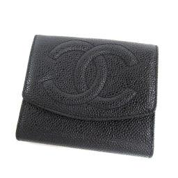 シャネル ココマーク 二つ折り財布(小銭入れあり)レディース