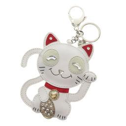 Swarovski Invitation Cat Keychains Women's