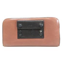 クロエ ロゴ刻印 長財布(小銭入れあり)レディース