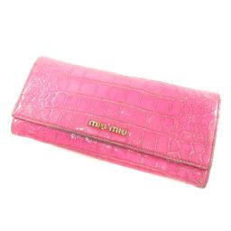 ミュウミュウ ロゴモチーフ 長財布(小銭入れあり)レディース