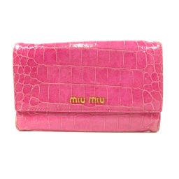 ミュウミュウ ロゴモチーフ 二つ折り財布(小銭入れあり)レディース