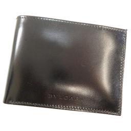 ブルガリ ロゴ型押し 二つ折り財布(小銭入れなし)レディース