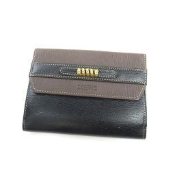 ロエベ ロゴ型押し 二つ折り財布(小銭入れあり)レディース