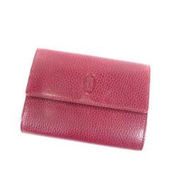 カルティエ ロゴマーク 二つ折り財布(小銭入れあり)レディース