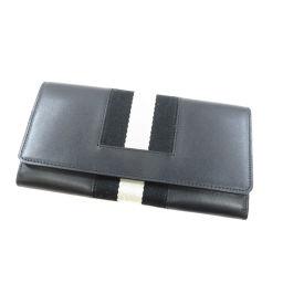 バリー ストライプ 長財布(小銭入れあり)レディース