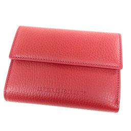 バーバリー ロゴタイプ 二つ折り財布(小銭入れあり)レディース