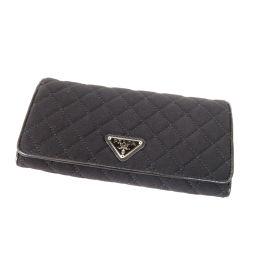 プラダ ロゴプレート キルティング 長財布(小銭入れあり)レディース