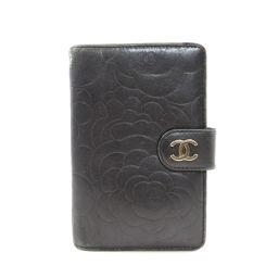 シャネル カメリア 二つ折り財布(小銭入れあり)レディース