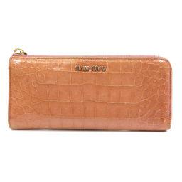 ミュウミュウ 型押し 長財布(小銭入れあり)レディース