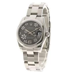 ロレックス 178240 デイトジャスト31 グレーフラワー 腕時計ボーイズ