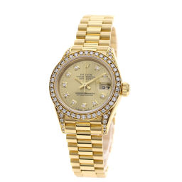 ロレックス 69158G デイトジャスト 10Pダイヤモンド 腕時計 OH済レディース